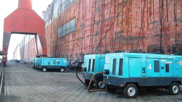 Portable diesel driven Air compressor