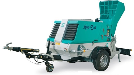 Mortar & Concrete Spraying Machine for rent in oman
