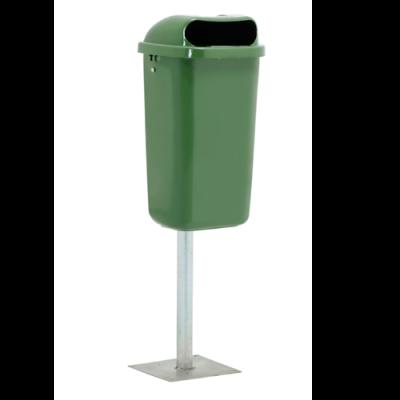 outdoor garbage bin in parking